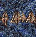 Def Leppard Albums Mosaic by Paul Van Scott