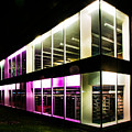 Defiance College Library Night Time by Michael Arend