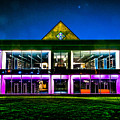 Defiance College Library Night View by Michael Arend