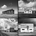 Defunct Country Taverns On North Dakota Prairie Composite Square by Donald  Erickson