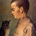 Degouve: Child & Owl, 1892 by Granger