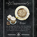 Deja Brew Chalkboard Coffee 3 Cappuccino Cupcakes Chocolate Recipe  by Audrey Jeanne Roberts