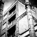 Delancey Street In The Bowery New York City by John Rizzuto