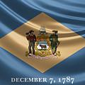 Delaware State Flag by Serge Averbukh