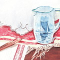 Delft And Linens by Kathryn B