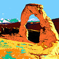 Delicate Arch Utah - Pop Art by Peter Potter