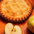 Delicious Apple Pie With Fresh Apples On Table by Jorgo Photography - Wall Art Gallery