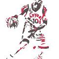 Demar Derozan Toronto Raptors Pixel Art 7 by Joe Hamilton