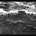 Demolition Derby Rain Storm Clouds #1 Tucson Arizona 1968 by David Lee Guss