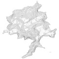 Denali Art Print Contour Map Of Denali In Alaska by Jurq Studio