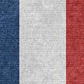 Denim France Flag Illustration by Iurii Vlasenko