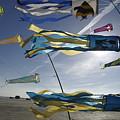 Denmark, Romo, Kites Flying At Beach by Keenpress