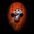 Denver Broncos War Mask 2 by Joe Hamilton