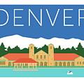 Denver City Park/blue by Sam Brennan