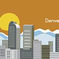 Denver Colorado Horizontal Skyline Print by Karen Young
