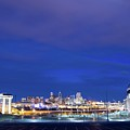 Denver Night Skyline by Chris Anthony