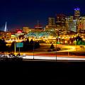 Denver Night Skyline by James O Thompson