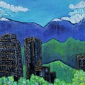 Denver Skyline Love For Colorado by Laurie Maves ART