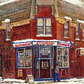 Depanneur De Montreal Pointe St Charles Best Original Montreal Paintings On Sale Peintures A Vendre  by Carole Spandau