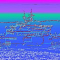 Departing Ferry by Tim Allen
