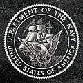 Department Of The Navy Emblem Polished Granite by Gary Whitton
