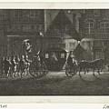 Departure Of Alva From Amsterdam, 1573, Barent De Bakker Attributed To, After Hermanus Petrus Scho by Hermanus Petrus Schouten