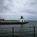 Derby Wharf Lighthouse From The Rigging by Jeff Folger