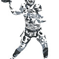 Derek Carr Oakland Raiders Pixel Art 11 by Joe Hamilton