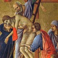 Descent From The Cross Fragment 1311 by Duccio