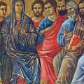 Descent Of The Holy Spirit Upon The Apostles Fragment 1311 by Duccio