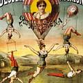 Descente D'absalon Par Miss Stena - Aerialists, Circus - Retro Travel Poster - Vintage Poster by Studio Grafiikka