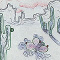 Desert Cactus by Suzanne  Marie Leclair