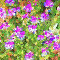 Desert Flowers In Abstract by Penny Lisowski