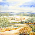 Desert Landscape Watercolor by Karla Beatty