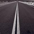 Desert Road Trip B W by Steve Gadomski