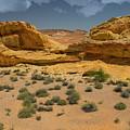 Desert Sandstone Cliffs Valley Of Fire by Frank Wilson