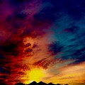 Desert Skull Of The Saguaro Sunset #3 by Joy Elizabeth