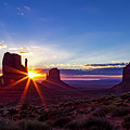 Desert Sunrise In Monument Valley by Teri Virbickis