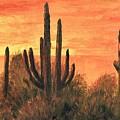 Desert Sunset I by Merle Blair