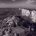 Desert View At Grand Canyon Arizona Bw by Steve Gadomski