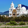 Desert View - San Xavier Mission - Tucson Arizona by Jon Berghoff