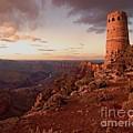 Desert Watchtower At Sunset by Larry Sobel