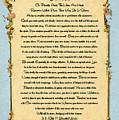 Desiderata Poem On Antique Paris Postcard by Desiderata Gallery