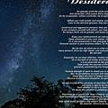 Desiderata - The Milky Way  by Steve Harrington