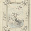 Design For A Ceiling Painting With Allegory Of Peace, Dionys Van Nijmegen, 1715 - 1798 by Dionys van Nijmegen
