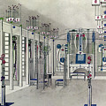 Design For A Music Room With Panels By Margaret Macdonald Mackintosh by Charles Rennie Mackintosh