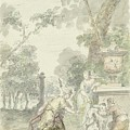 Design For A Room Piece Dorinda Returns Silvio His Dog, Dionys Van Nijmegen, 1715 - 1798 by Dionys van Nijmegen