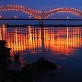 Desoto Bridge Refections by James Kirkikis