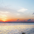 Destin Sunset Over The Bay by Kay Brewer