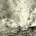 Destruction Of The Us Battleship Maine, 15th February, 1898 by American School